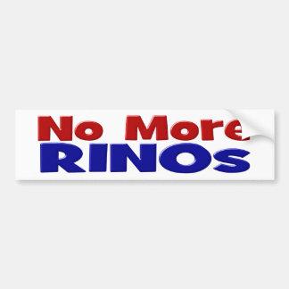 No More RINOs Bumper Sticker, red & blue Bumper Sticker