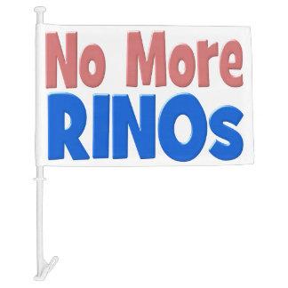 No More RINO's Car Flags, pink & blue Car Flag