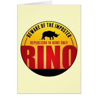 No More RINO's Card