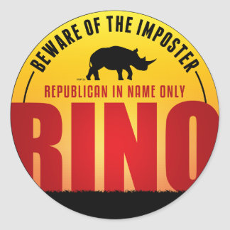 No More RINO's Classic Round Sticker