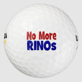 No More RINO's Golf Balls, red & blue Golf Balls