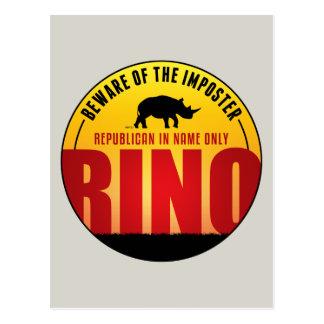No More RINO's Postcard