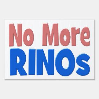 No More RINOs Yard Sign - pink