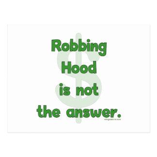 No More Robbing Hood Postcard