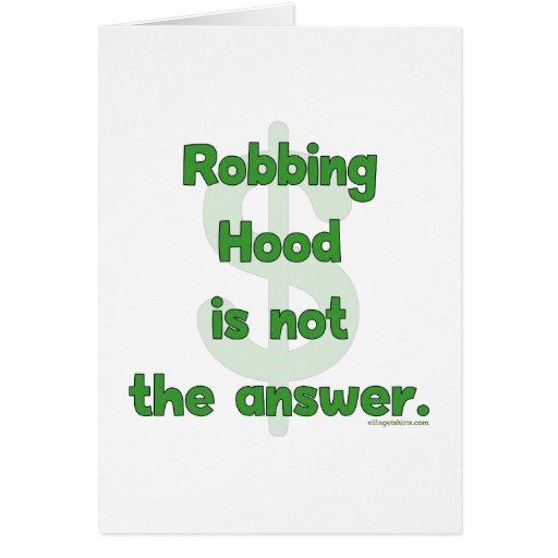 No More Robbing Hood Stationery Note Card