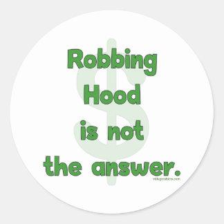 No More Robbing Hood Stickers