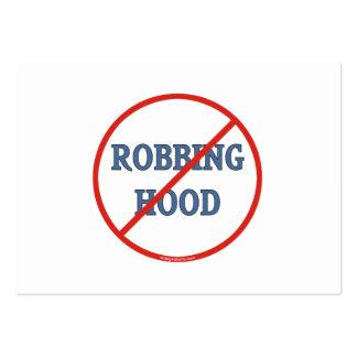 No More Robinhood Business Card Templates