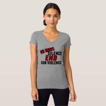 Lawyer Themed No More Silence End Gun Violence T-Shirt