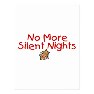 No More Silent Nights Postcard