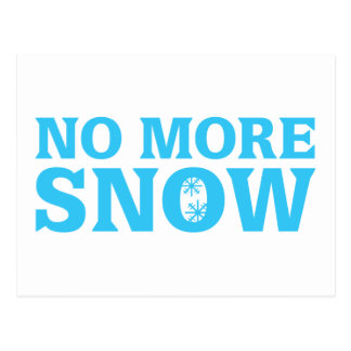 No More Snow Post Cards