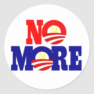 No More Socialism Classic Round Sticker