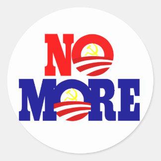 No More Socialism Classic Round Sticker