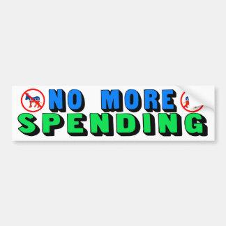 No More Spending Bumper Stickers