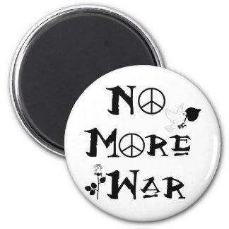 No More War 2 Inch Round Magnet