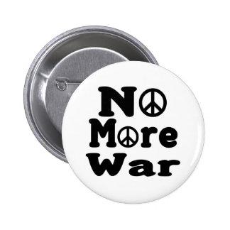 No More War! Pinback Buttons