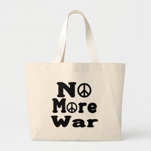 No More War! Canvas Bags
