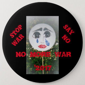NO MORE WAR PINBACK BUTTON