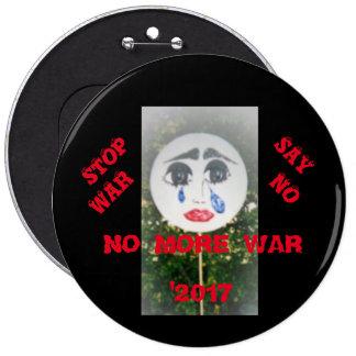 NO MORE WAR PINBACK BUTTON