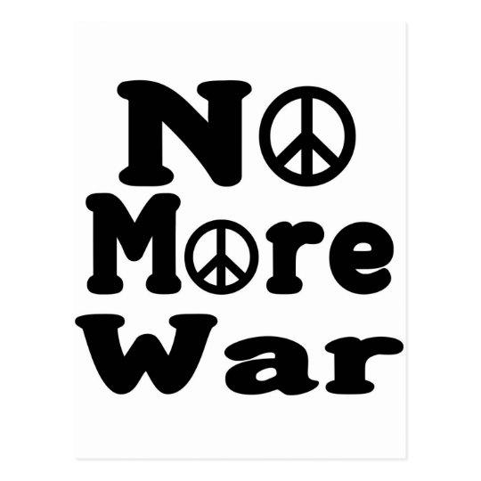 No More War! Postcard