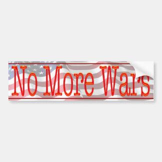 No More Wars Bumper Sticker
