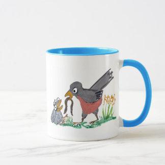 No More Worms Mom says Baby Robin. Mug