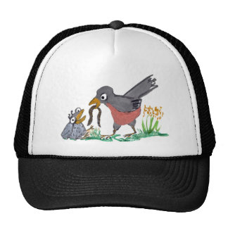 No More Worms Mom says Robin. Trucker Hat