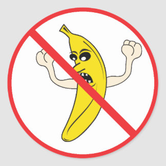 No More Yelling Bananaheads! Classic Round Sticker