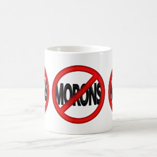 No Morons Coffee Mugs