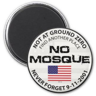 No Mosque At Ground Zero 2 Inch Round Magnet