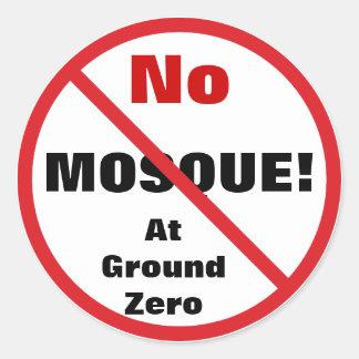 No Mosque Sticker