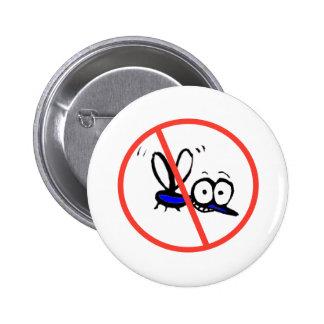 no mosquito funny cartoon design pinback button