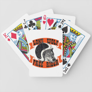 No motorcycle club bicycle playing cards