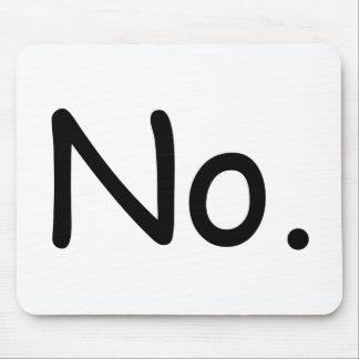 No mousepad