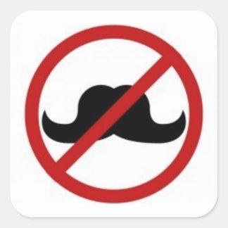 No moustache