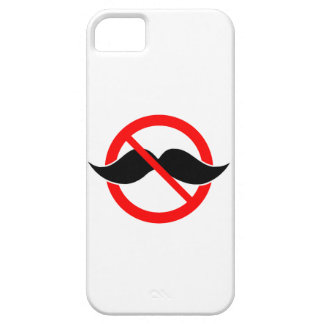 NO MOUSTACHE - ANTI-MUSTACHE -SHAVE THAT THING OFF iPhone 5 COVER