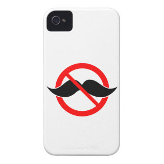 NO MOUSTACHE - ANTI-MUSTACHE -SHAVE THAT THING OFF Case-Mate iPhone 4 CASES