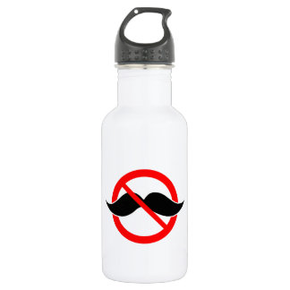 NO MOUSTACHE - ANTI-MUSTACHE -SHAVE THAT THING OFF STAINLESS STEEL WATER BOTTLE