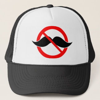 NO MOUSTACHE - ANTI-MUSTACHE -SHAVE THAT THING OFF TRUCKER HAT