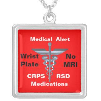 No MRI Medical Alert CRPS/RSD Medications Necklaces