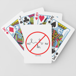 No MSG (No Monosodium Glutamate) Bicycle Playing Cards