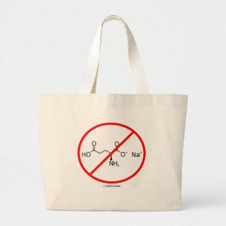No MSG (No Monosodium Glutamate) Large Tote Bag