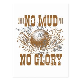 no mud no glory postcard