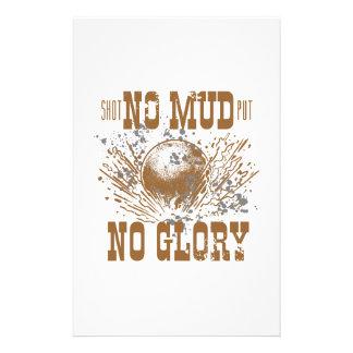 no mud no glory stationery