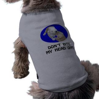 No muerda mi cabeza de las camisetas y de los rega camisetas de perro