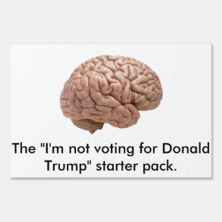 No muestra de la yarda de Donald Trump Señal