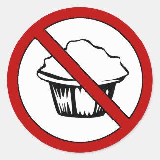 NO Muffin Tops! Funny Fat Joke Classic Round Sticker