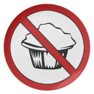 NO Muffin Tops Funny Fat Joke Dinner Plates
