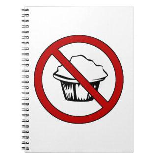 NO Muffin Tops! Funny Fat Joke Spiral Notebook