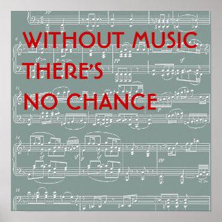 no music no chance poster