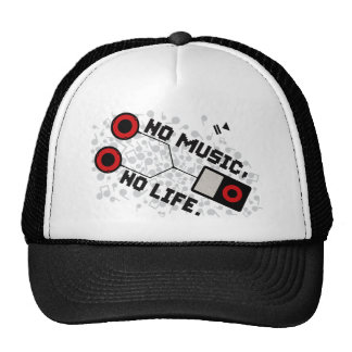 NO MUSIC, NO LIFE. MESH HAT